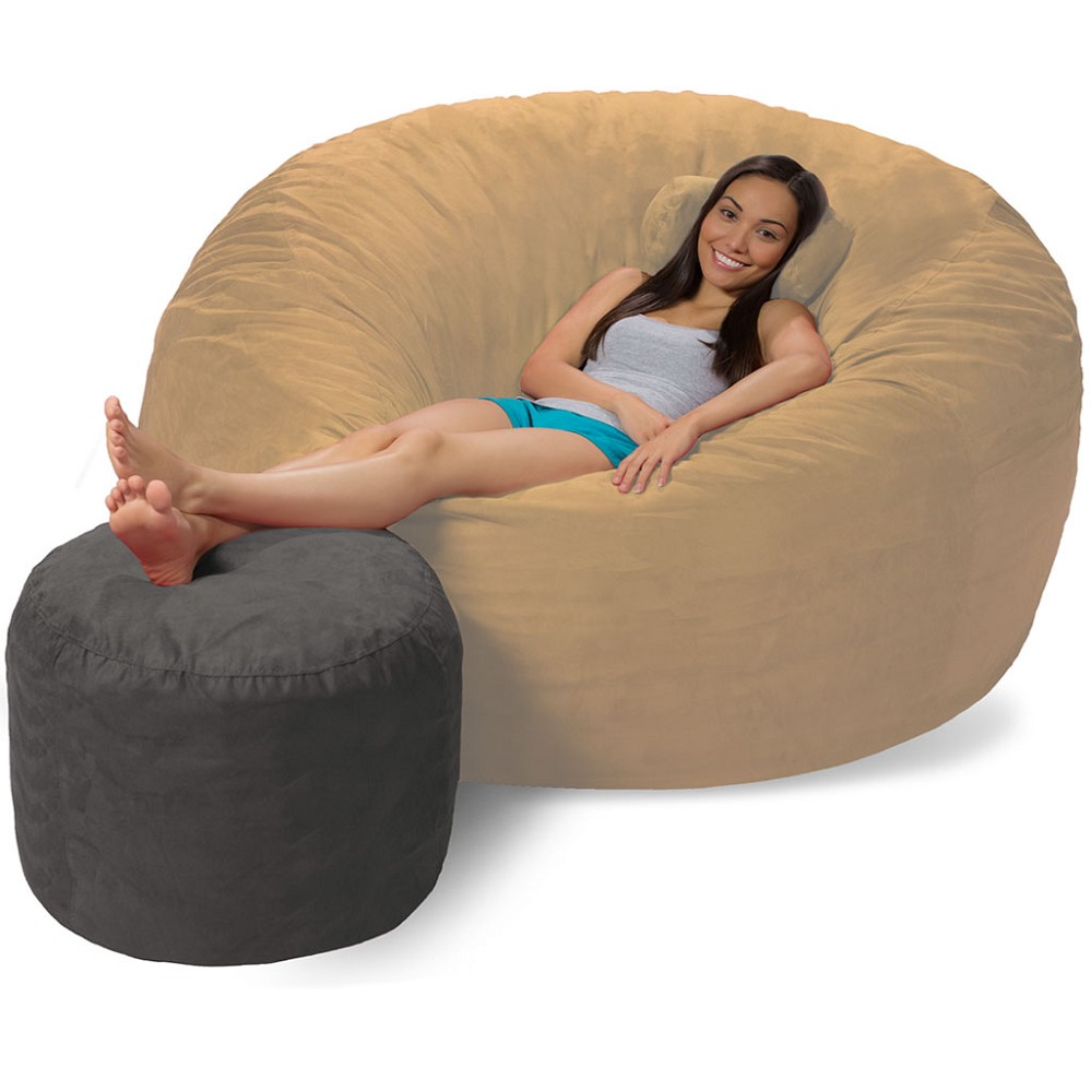 bean bag ottoman bean bag footrest. Black Bedroom Furniture Sets. Home Design Ideas